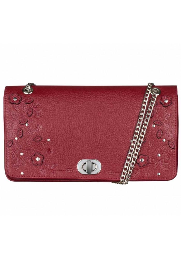 Женская сумочка-клатч Линда бордовая