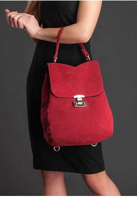 Фото Женская замшевая сумка-трансформер Юта бордо