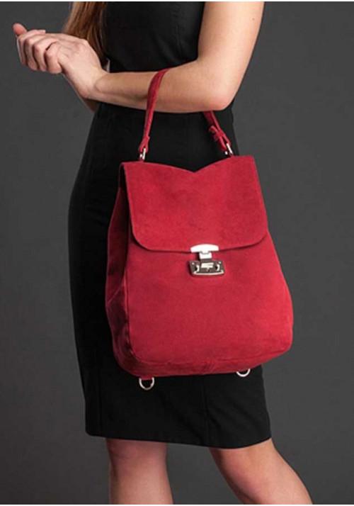 Женская замшевая сумка-трансформер Юта бордо