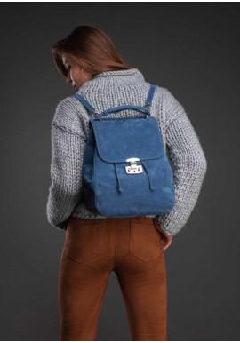 Фото Женская замшевая сумка-трансформер Юта синяя