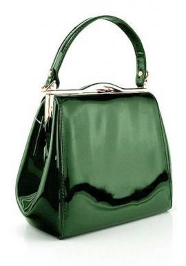 Фото Женская зеленая лаковая сумка Rose Heart 6839