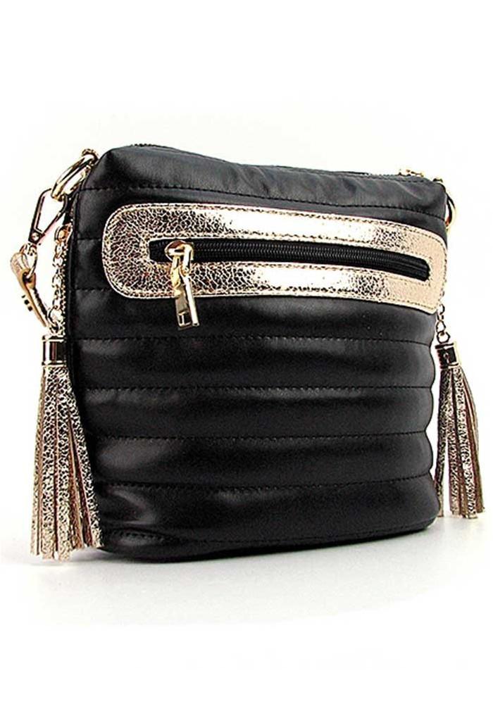 Женская сумка-клатч с золотыми вставками 20715