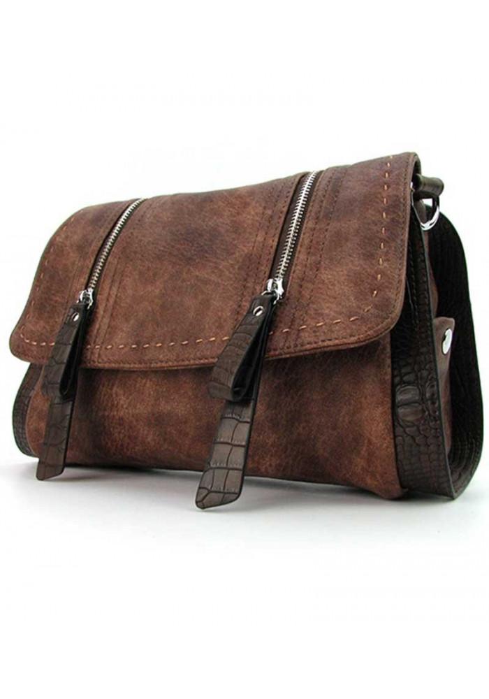 Коричневая женская сумка на плечо Batty 1701