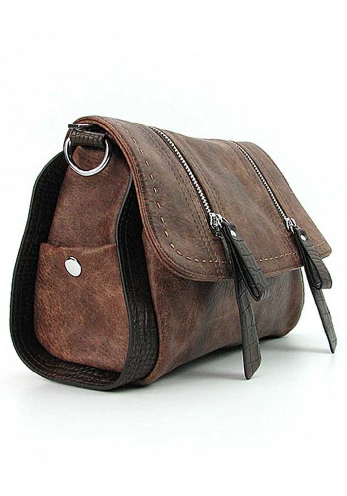 5eba392011fc ... Коричневая женская сумка на плечо Batty 1701, фото №2 - интернет магазин  stunner.