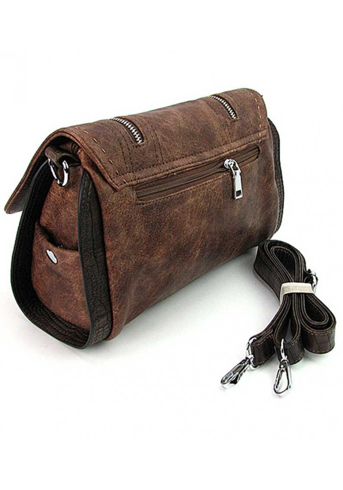 da0e1482e467 Коричневая женская сумка на плечо Batty 1701, фото №3 - интернет магазин  stunner.