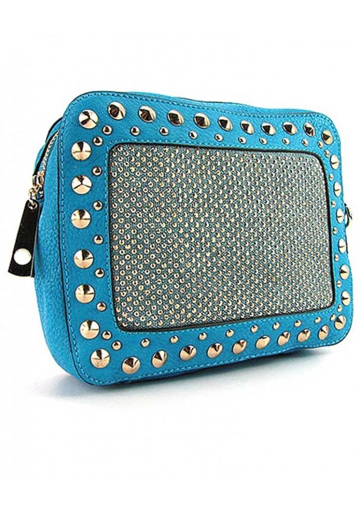 Модный голубой женский клатч Batty 56310
