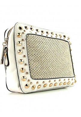 Фото Белый модный женский клатч Batty 56310