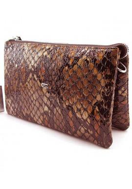 Фото Женский клатч Desisan 070 коричневая рептилия