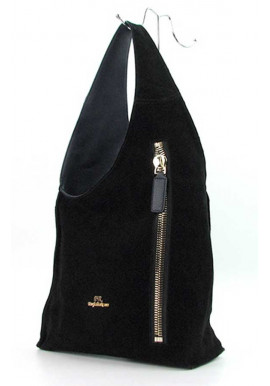 Фото Черная женская замшевая сумка FR