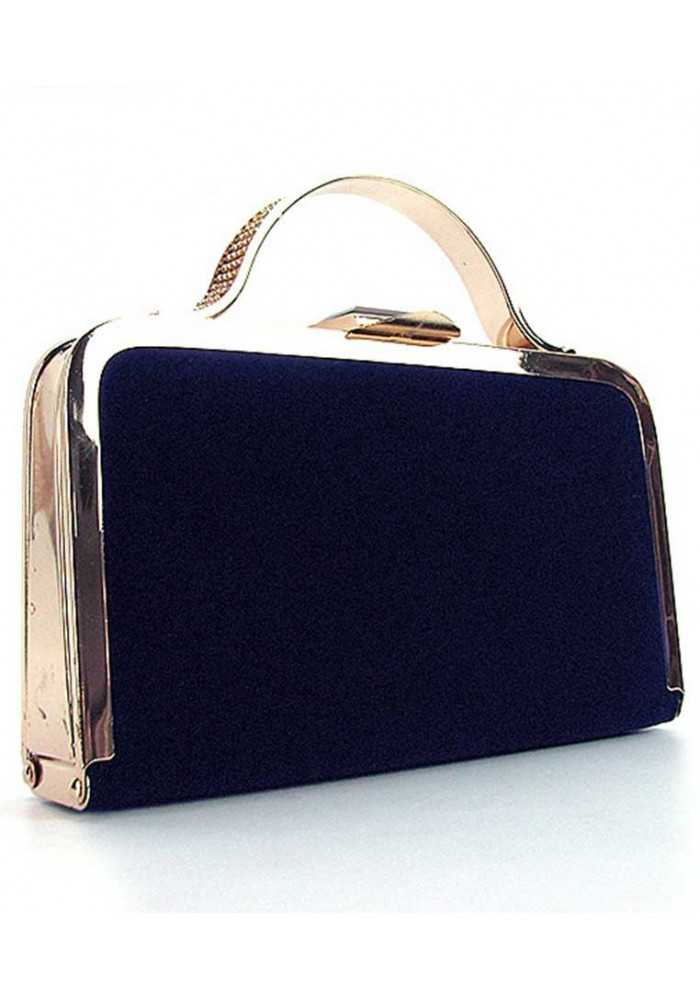 Синий женский клатч-бокс 010