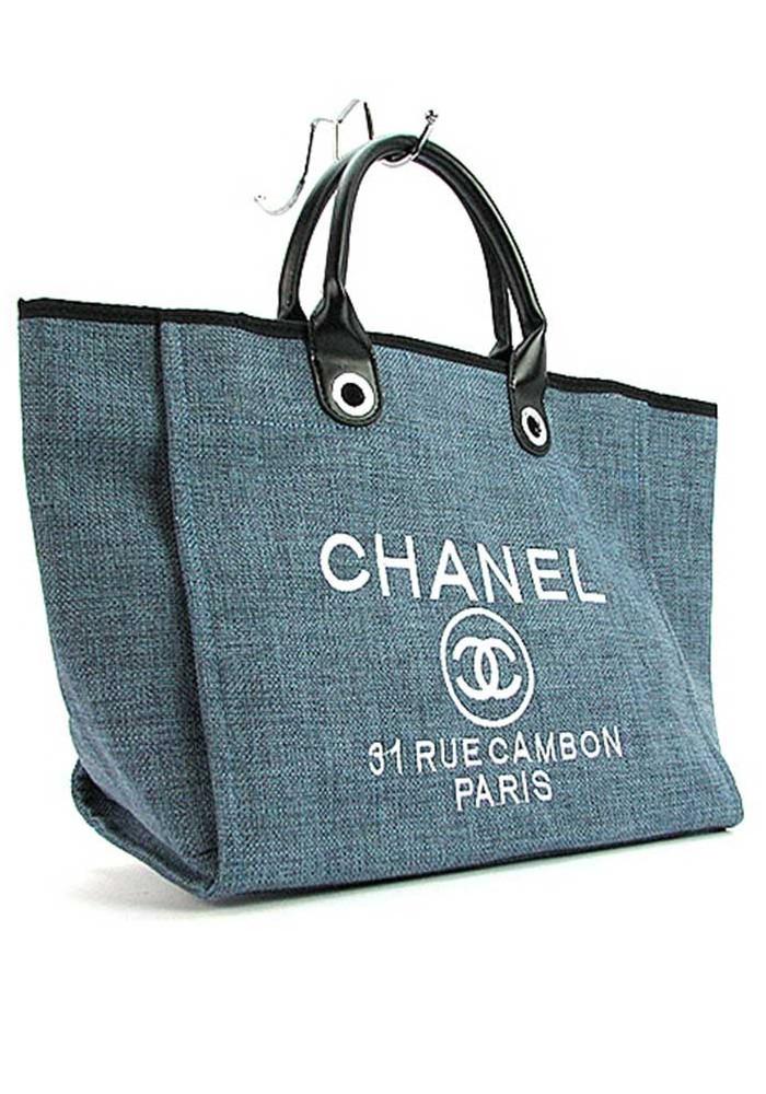 614437859be6 ... Большая синяя женская сумка из текстиля 93786, фото №2 - интернет  магазин stunner.