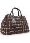 Дорожная коричневая женская сумка из ткани 5340