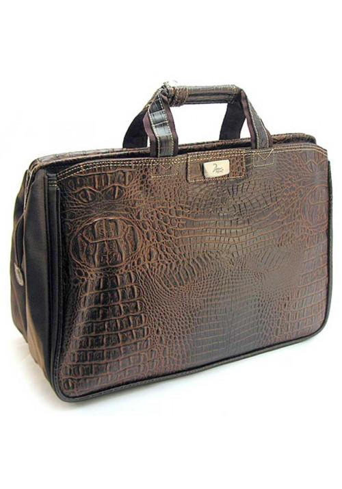 Коричневая дорожная сумка саквояж Refiand 88725