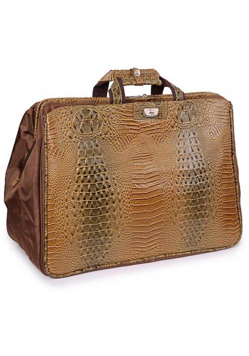 Светло-коричневая дорожная сумка саквояж Refiand 88725