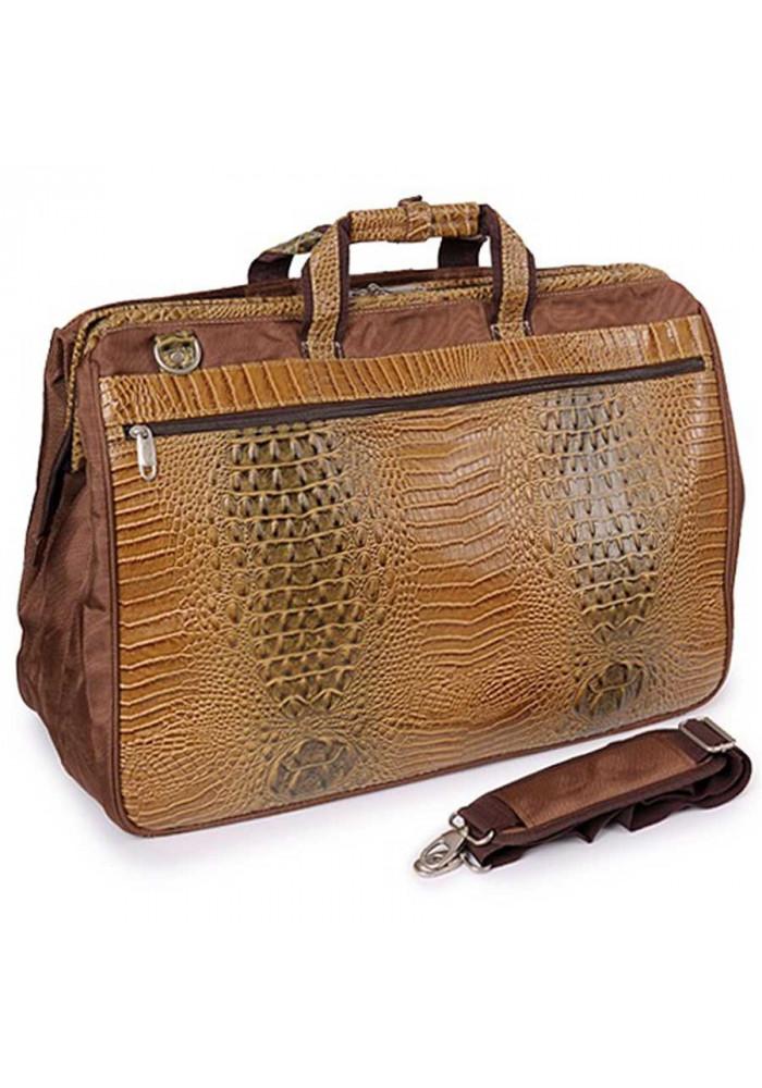 28738b9eb18e ... Светло-коричневая дорожная сумка саквояж Refiand 88725, фото №2 -  интернет магазин stunner ...