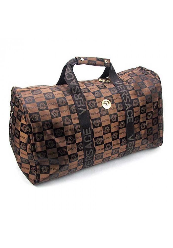 Дорожная сумка цилиндр 9124 коричневая