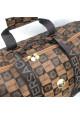 Дорожная сумка цилиндр 9124 коричневая, фото №4 - интернет магазин stunner.com.ua