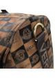 Дорожная сумка цилиндр 9124 коричневая, фото №5 - интернет магазин stunner.com.ua