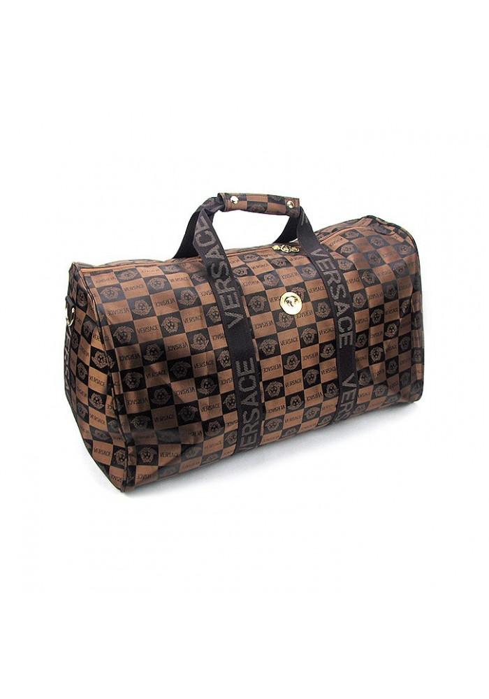 Дорожная сумка цилиндр 9126 коричневая