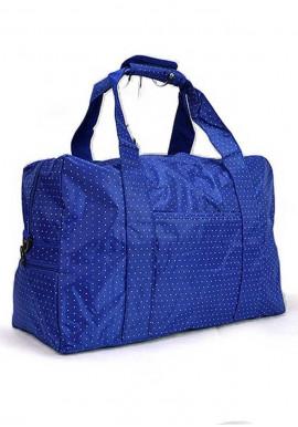 Фото Синяя дорожная текстильная сумка 262