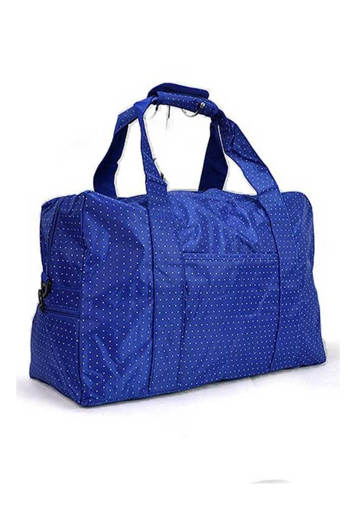 Синяя дорожная текстильная сумка 262