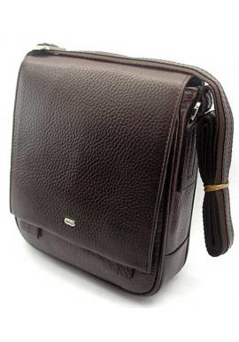 Фото Коричневая кожаная мужская сумка через плечо Desisan 420