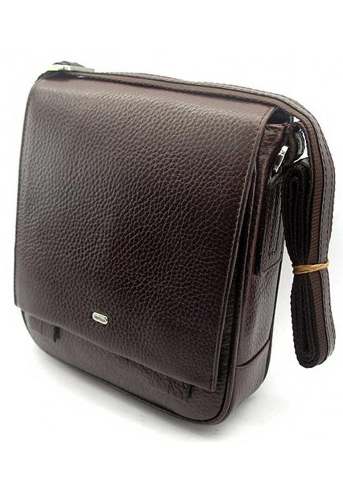Коричневая кожаная мужская сумка через плечо Desisan 420