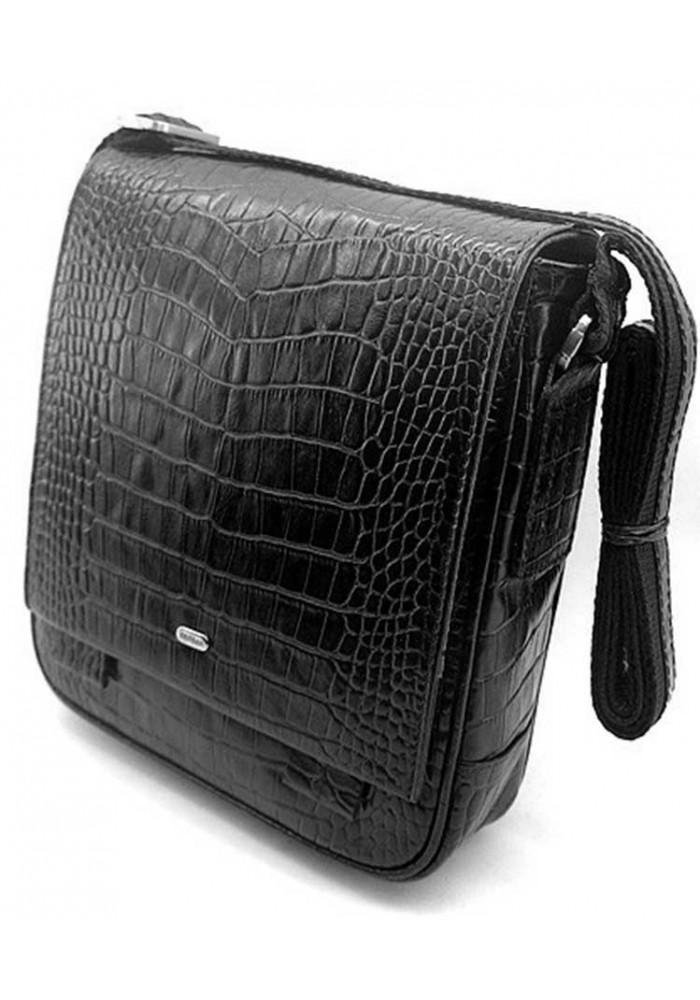 Кожаная мужская сумка через плечо Desisan 420 кроко