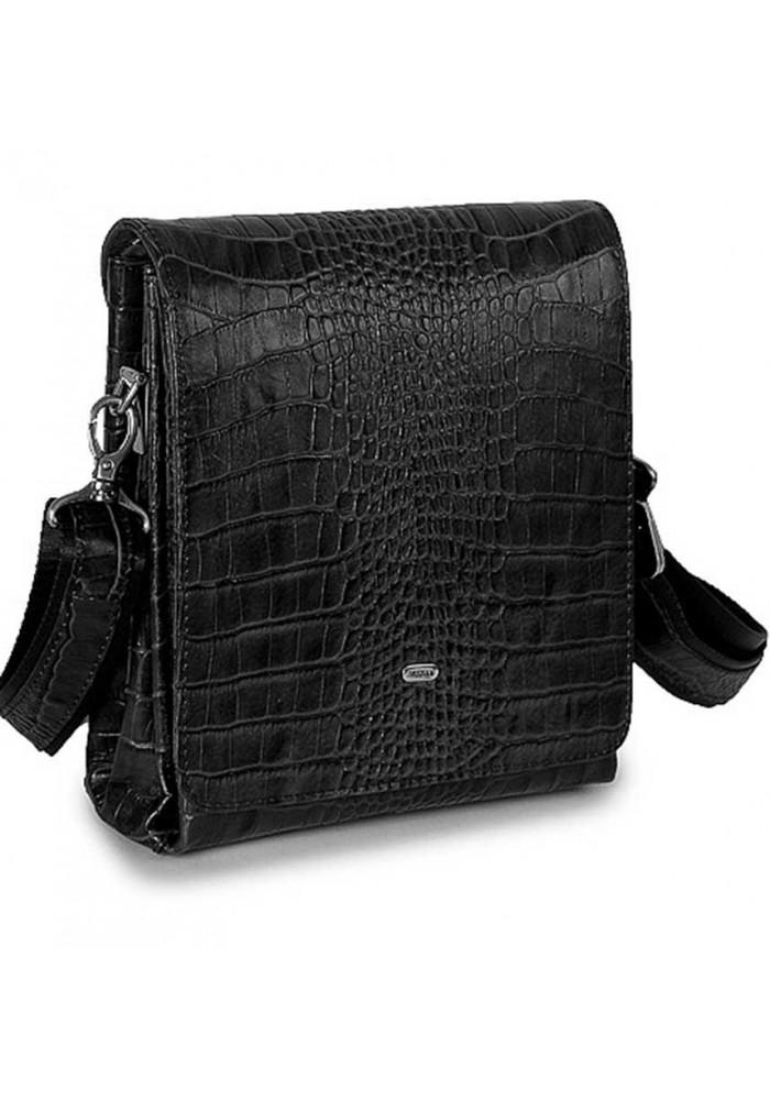 Кожаная мужская сумка через плечо Desisan 1321 кроко