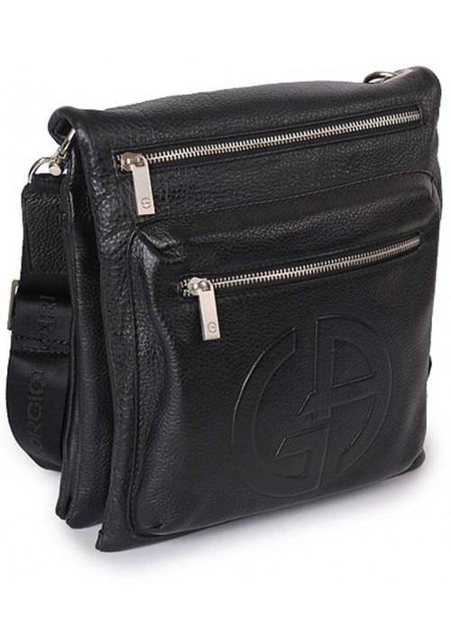 Кожаная мужская сумка-планшет через плечо 4422