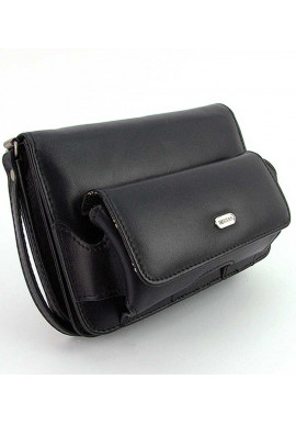 Фото Маленькая черная мужская сумка на пояс Desisan 3002