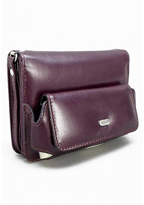 Маленькая бордовая мужская сумка на пояс Desisan 3002