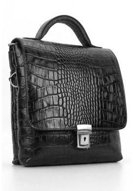 Фото Мужская кожаная сумка планшет с ручкой Desisan 1340 кроко