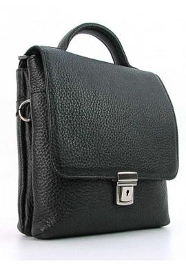 Фото Мужская кожаная сумка планшет с ручкой Desisan 1340 черная матовая