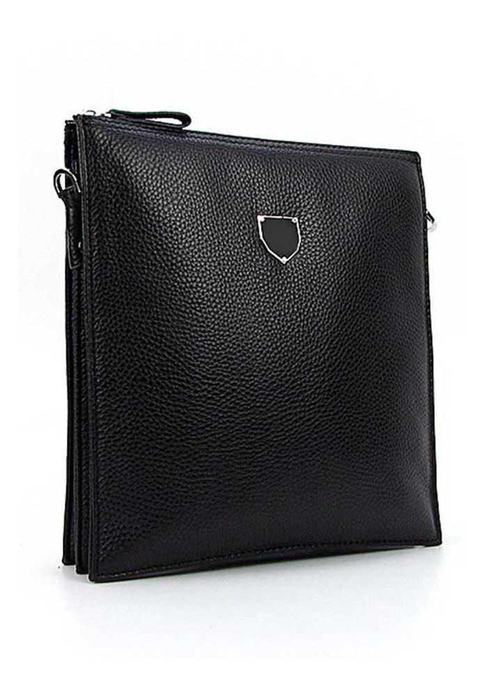 Плоская мужская кожаная сумка 0189