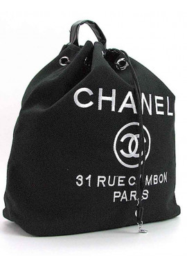 Фото Черный рюкзак-мешок из текстиля 93787