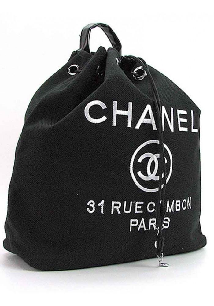 Черный рюкзак-мешок из текстиля 93787