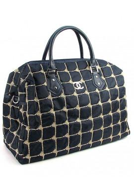 Фото Синяя дорожная женская сумка из ткани 5340