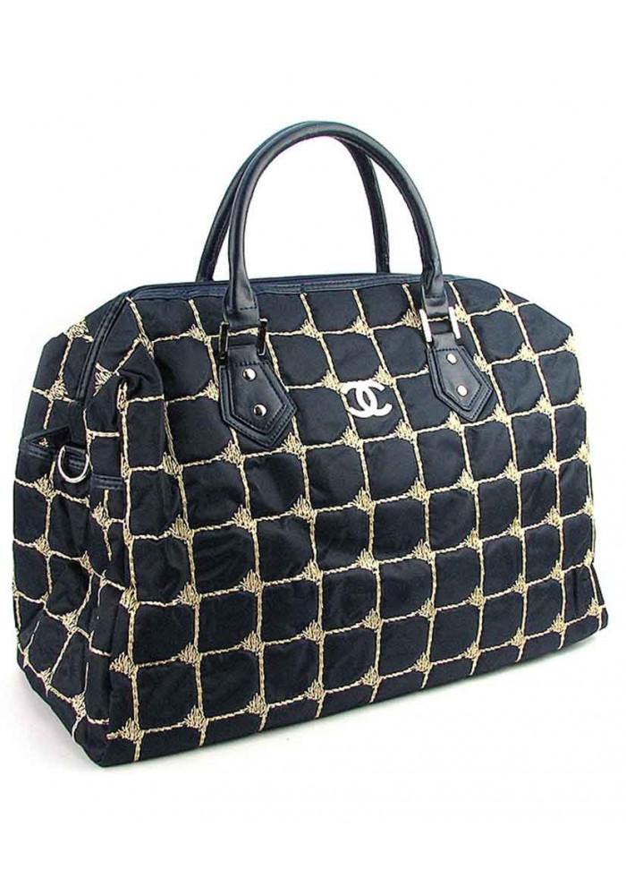Синяя дорожная женская сумка из ткани 5340