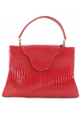 Фото Красная лаковая женская сумка рептилия Betty Pretty