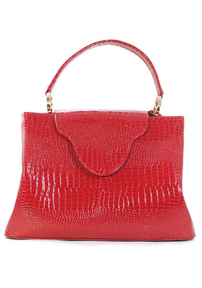 Красная лаковая женская сумка рептилия Betty Pretty