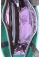 Зеленая лаковая женская сумка с черной вставкой Betty Pretty