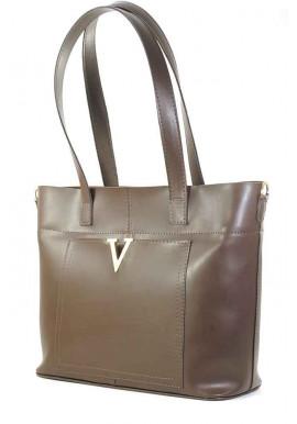 Фото Коричневая мягкая глянцевая женская сумка Betty Pretty