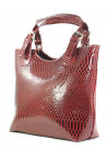 Бордовая лаковая женская сумка шопер Betty Pretty