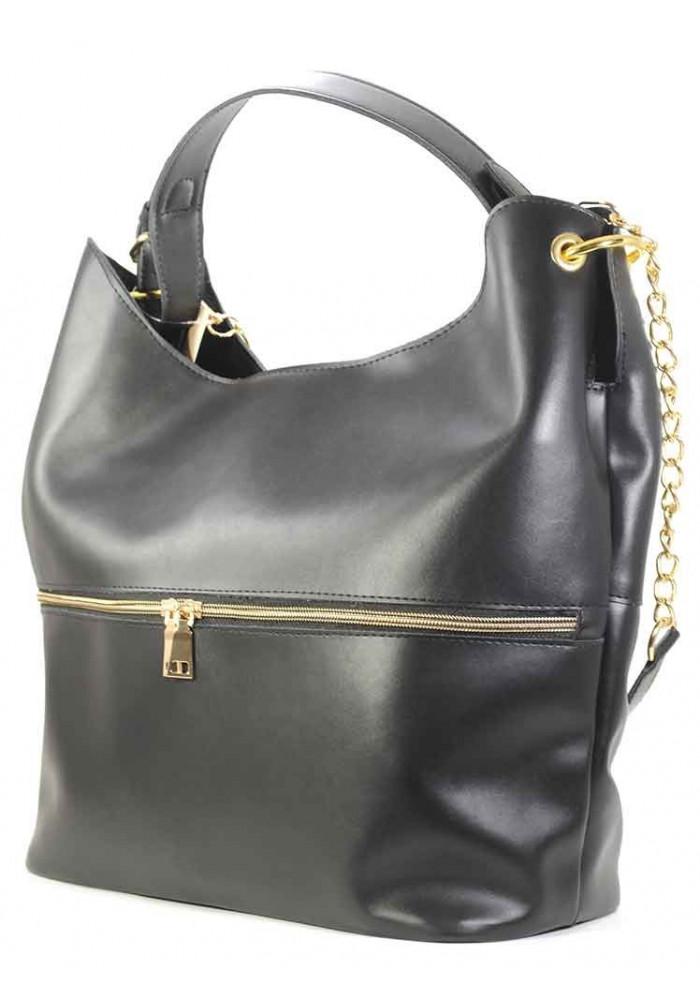 Очень большая черная женская сумка Betty Pretty