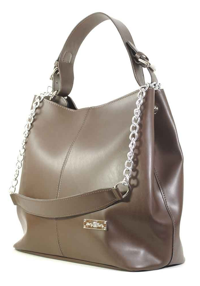 Большая коричневая женская сумка Betty Pretty