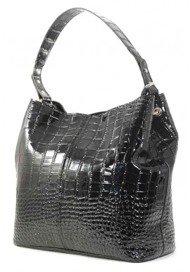 Фото Большая черная лаковая женская сумка Betty Pretty