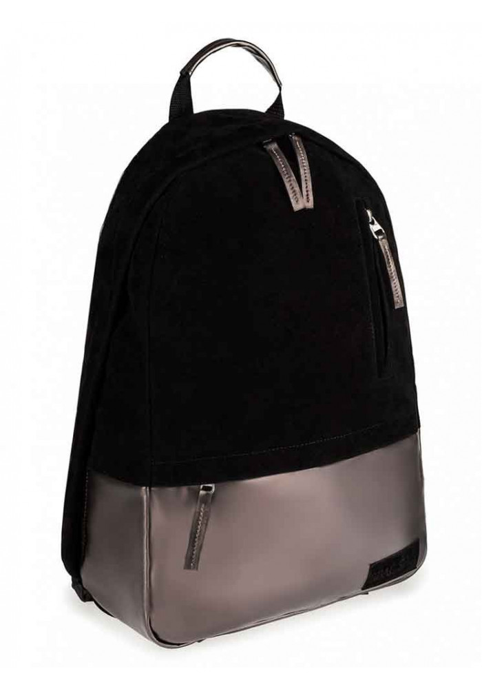 """Черный замшевый рюкзак """"ROPER"""" MAXI BLACK NICKEL"""
