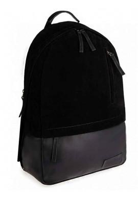 """Фото Черный замшевый рюкзак """"ROPER"""" MAXI BLACK"""