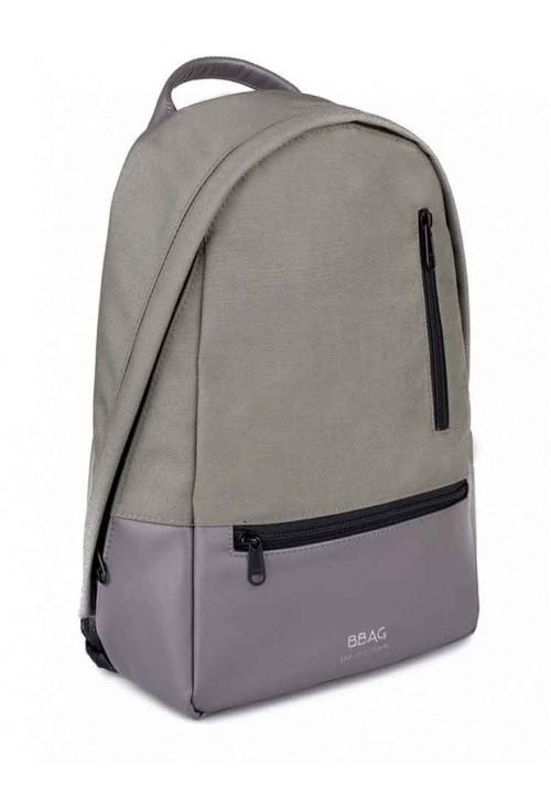 Рюкзак серый из кордура и экокожи ROPER BASIC GREY